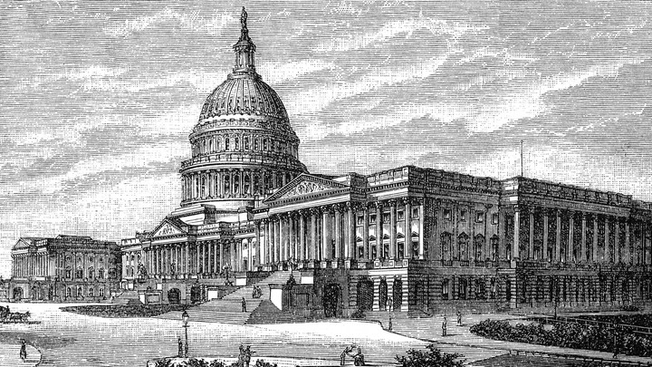 An illustration of the U.S. Capitol.