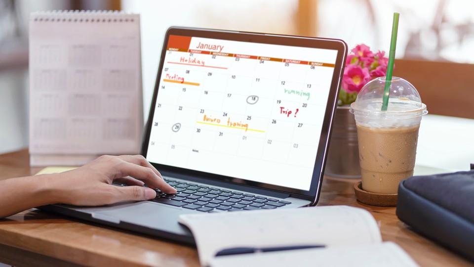 A digital calendar