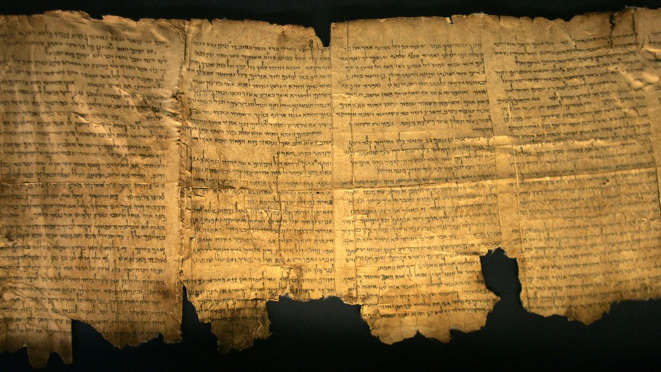 Sections of the ancient Dead Sea Scrolls on display in Jerusalem
