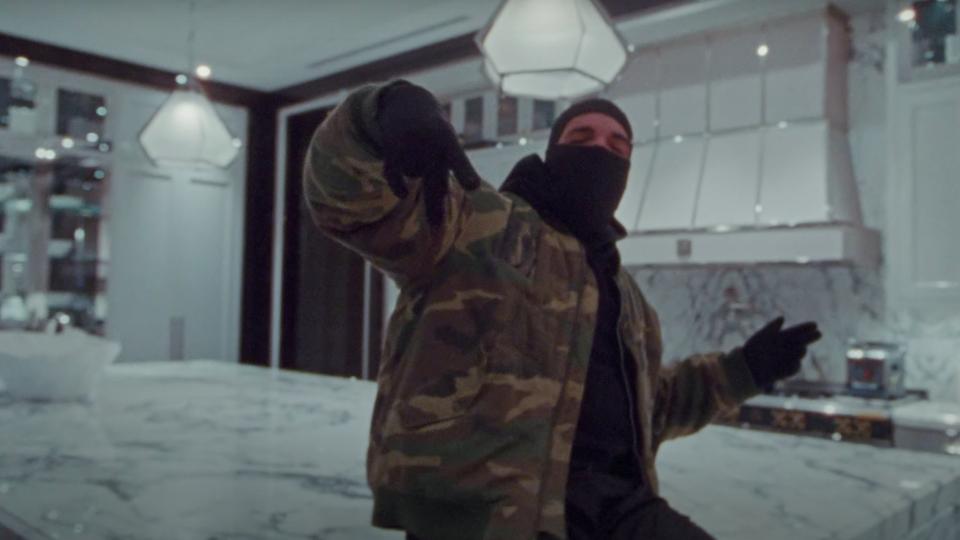 A still from Drake's 'Toosie Slide' video.