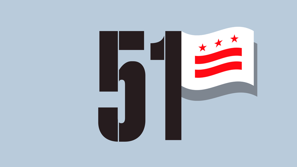An illustration of the number 51 with a D.C. flag