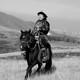 Tsakhia Elbegdorj rides a horse.