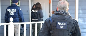 Immigration and Customs Enforcement Agents conduct an operation in Atlanta