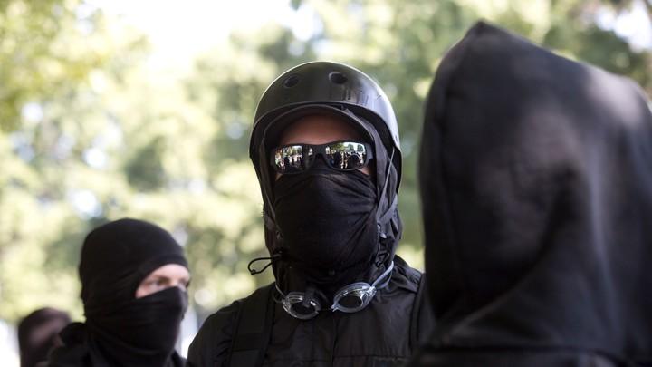 Antifa protesters in 2017