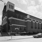 A church in Detroit just before its demolition in the early 1980s