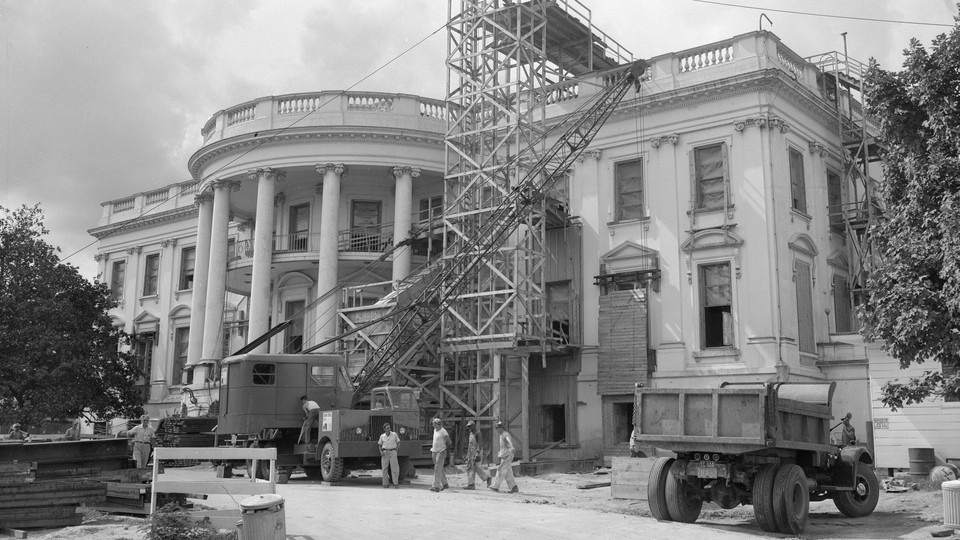 The White House under renovation