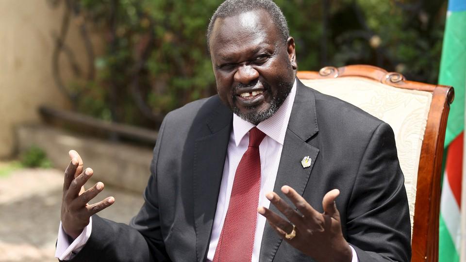 South Sudanese rebel leader Riek Machar