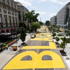 The District of Columbia renamed a portion of 16th Street NW as Black Lives Matter Plaza accompanied by the words witten in large letters on Friday, June 5, 2020.