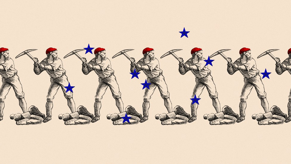 An illustration of a production worker