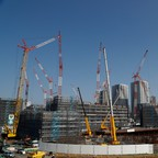 Construction site of Athletes' Village for Tokyo 2020 Olympic games.