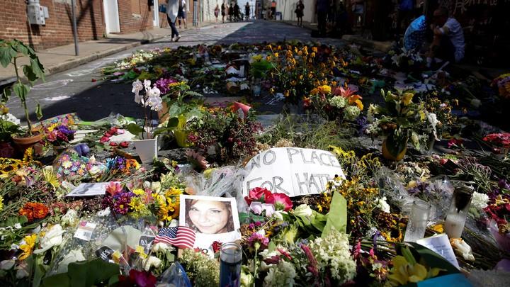 A memorial for Heather Heyer in Charlottesville, Virginia