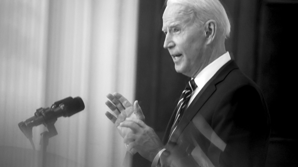 Biden gives a press conference