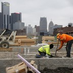 Construction on a housing development in Detroit.