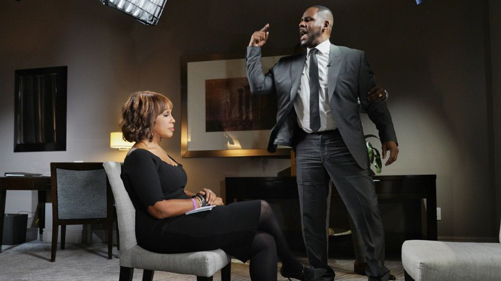 R. Kelly and Gayle King on CBS This Morning.