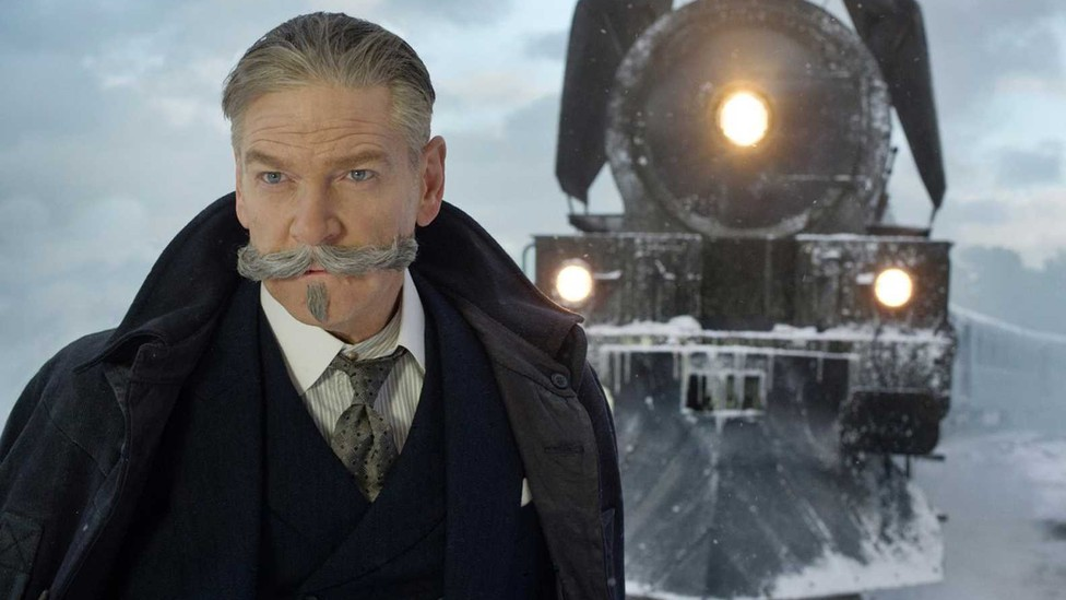 Kenneth Branagh in a still for 'Murder on the Orient Express'