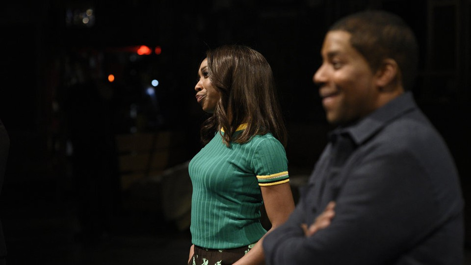 Ego Nwodim and Kenan Thompson onstage for SNL
