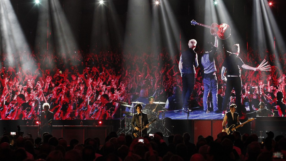 Green Day at the Rock and Roll Hall of Fame induction ceremony