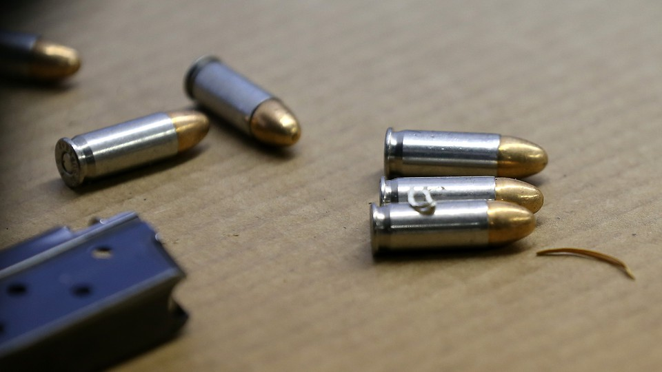 Bullets sit on a table
