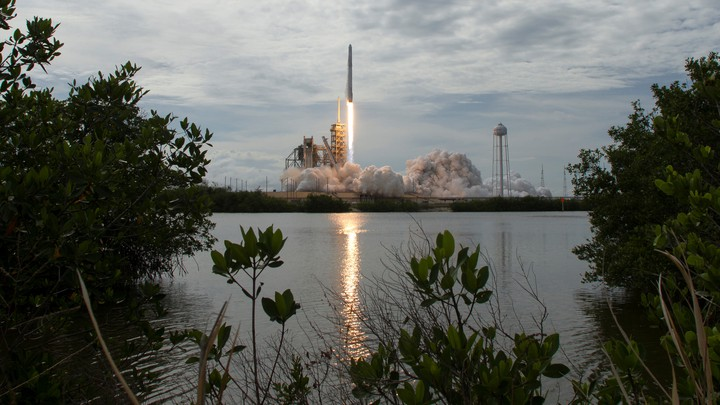 A Falcon 9 launch at Cape Canaveral in June 2017