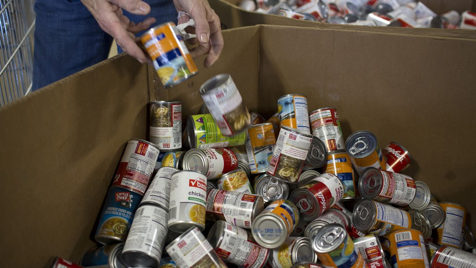 A box of canned food