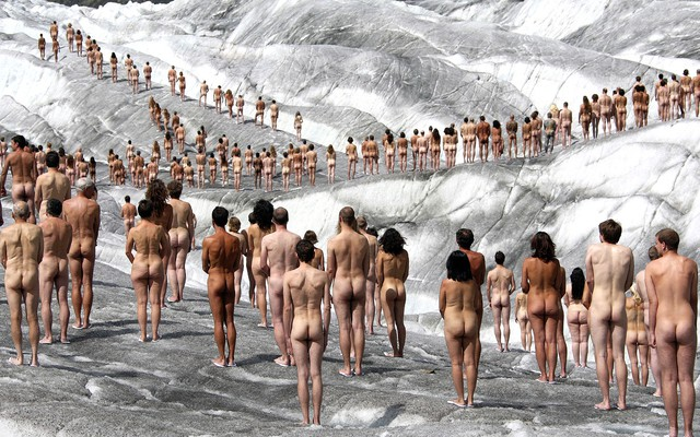 Naked men outside winter sex photo