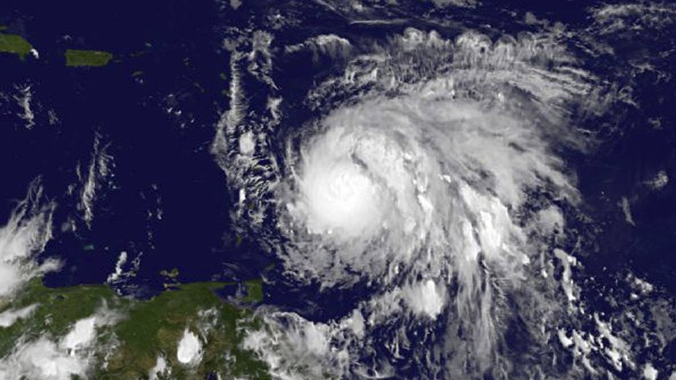 Satellite imagery of Hurricane Maria