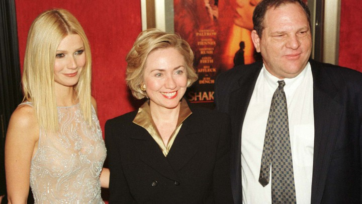 Hillary Clinton with Gwyneth Paltrow and Harvey Weinstein in 1998