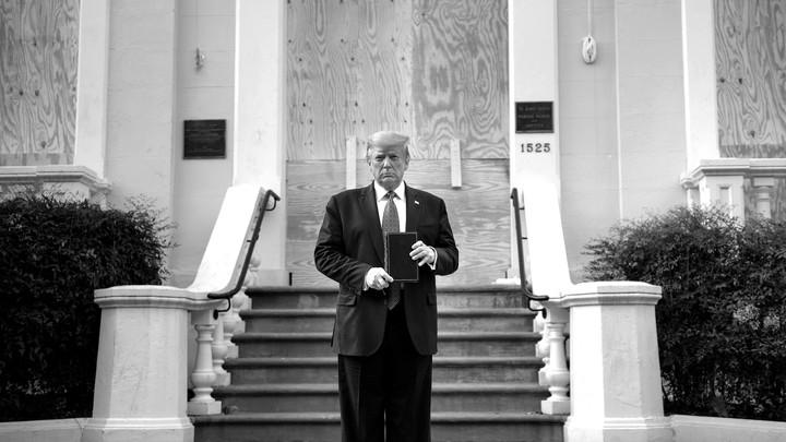 Donald Trump church photo op