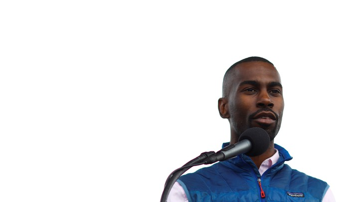 DeRay Mckesson spoke during a rally on the National Mall to mark the 50th anniversary of the assassination of Martin Luther King Jr.