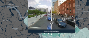 The researchers' map shows how neighborhoods in five cities have physically changed between 2007 and 2014.