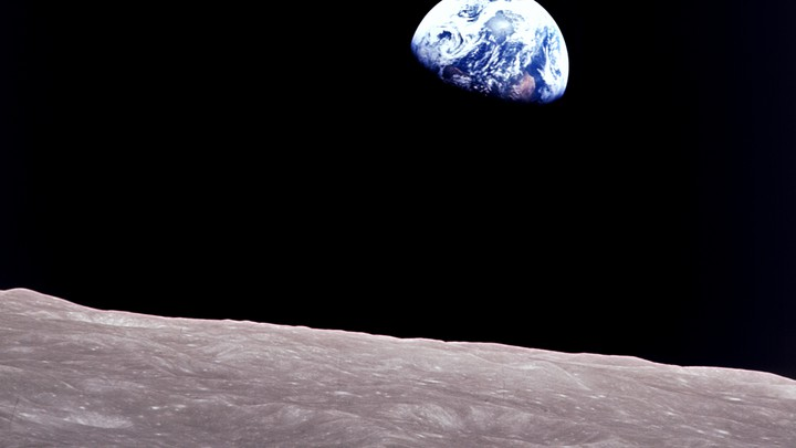 The iconic image of the Earth taken aboard Apollo 8