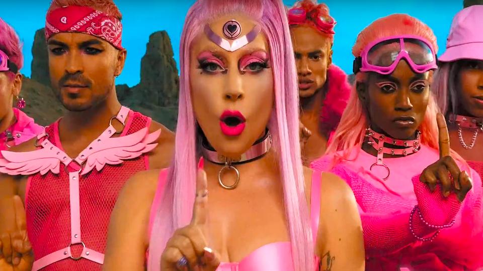"Lady Gaga's ""Stupid Love"" music video"