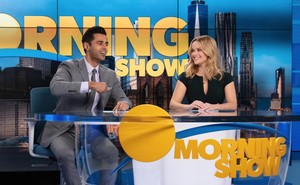 """Two anchors on the set of """"The Morning Show"""""""