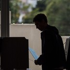 photo: A California voter casts his ballot in 2016.