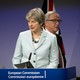 U.K. Prime Minister Theresa May and European Commission President Jean-Claude Juncker address the media at the EU headquarters in Brussels onDecember8, 2017.