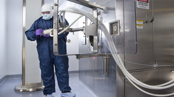A manufacturing worker at an Eli Lilly facility in Indiana