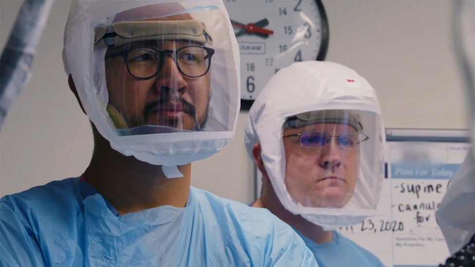 """Doctors in a still from """"Totally Under Control"""""""