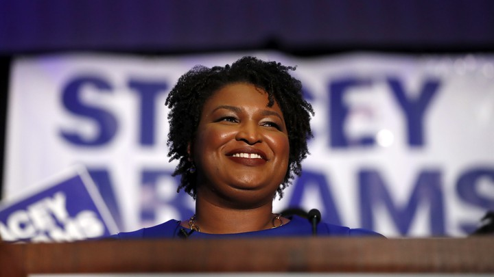 Stacey Abrams smiles