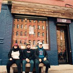 Roselyn Grullon, Amaurys Grullon, and Josue Caceres in front of their shop, Bronx Native on Lincoln Avenue. It is one of the new businesses by Bronx locals hoping to take control of the changes in the borough.