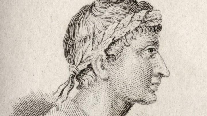 A portrait of the Roman poet Ovid.