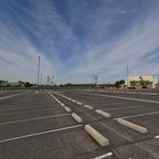 A photo of an empty parking lot.