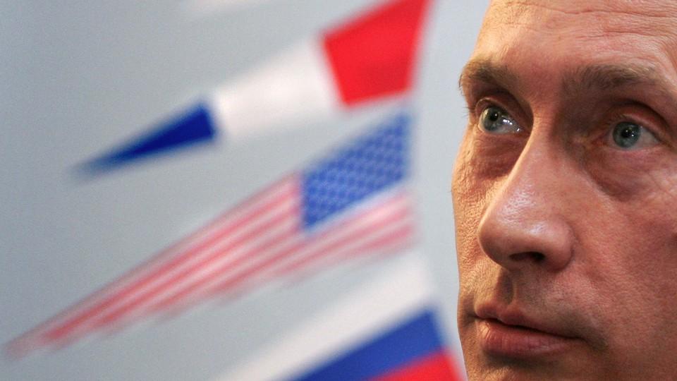 A close-up of Vladimir Putin