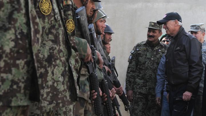 Joe Biden with Afghan troops.