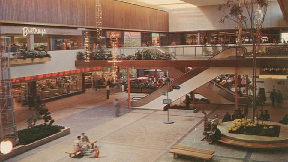 The Garden Court at Southdale Shopping Center, Edina, Minnesota, circa 1965