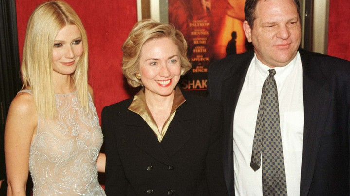 Hillary Clinton with Gwyneth Paltrow and Harvey Weinstein in 1998