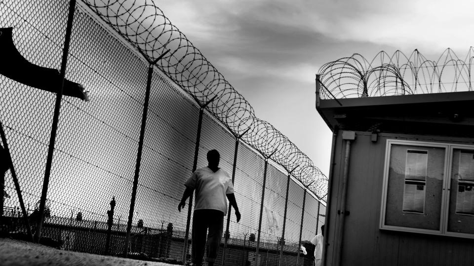 Barbed wire at Guantánamo Bay