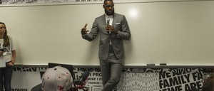 LeBron James at the opening ceremony for the I Promise School in Akron, Ohio.
