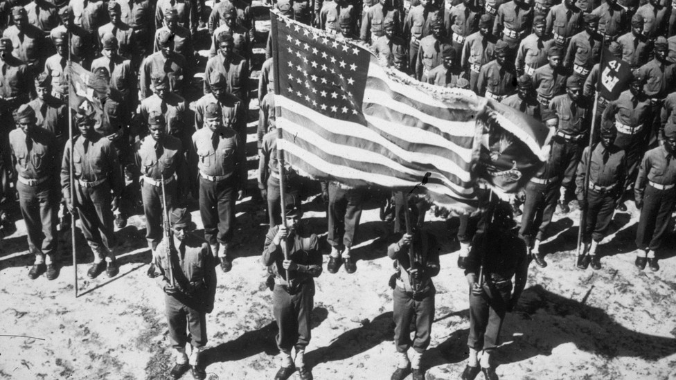 Soldiers of the 41st Engineer Regiment at Fort Bragg, North Carolina, c. 1942