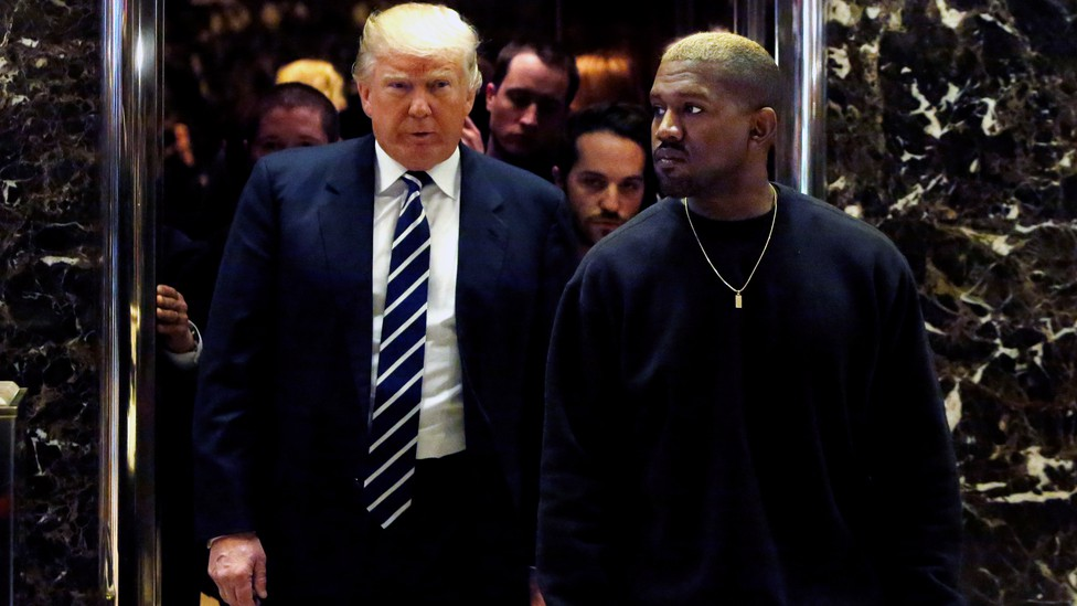 Donald Trump and Kanye West in 2016