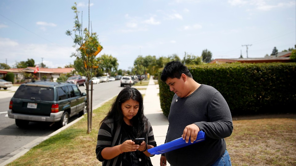 Canvassers in Orange County